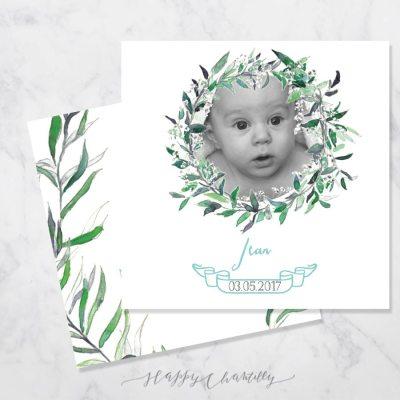 faire-part-naissance-eucalyptus-couronne-feuilles-aquarelle-garcon-happy-chantilly