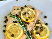 poached-salmon-lemon-rosemary-capers