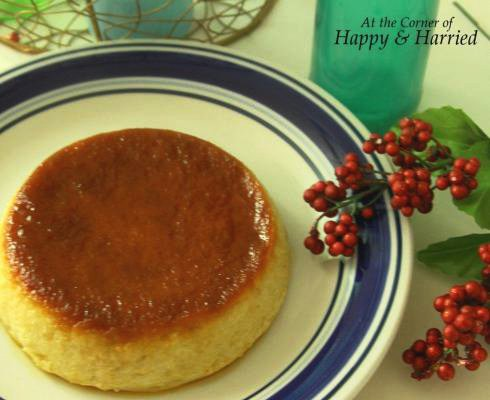Easy Dessert - Bread Pudding Coated With Caramel Sauce