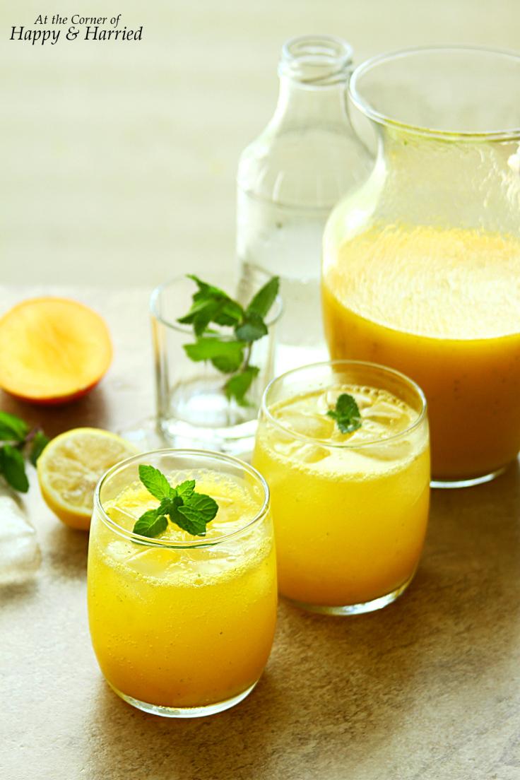 Sparkling Mango-Mint Lemonade