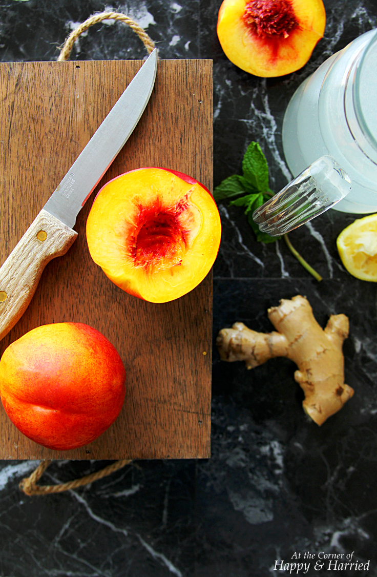 Nectarine Ginger Lemonade