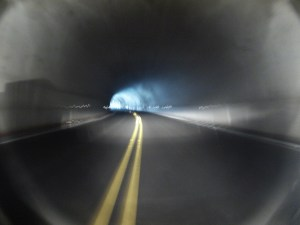 I can see the light at the end of the tunnel! It's not a train!!