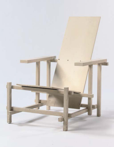 Rietveld White Red and Blue Chair