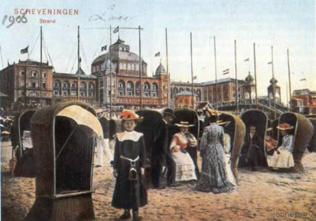 1906 Postcard - Scheveningen beach with the Kurhaus