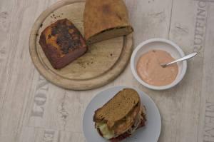 Reuben Sandwich von oben