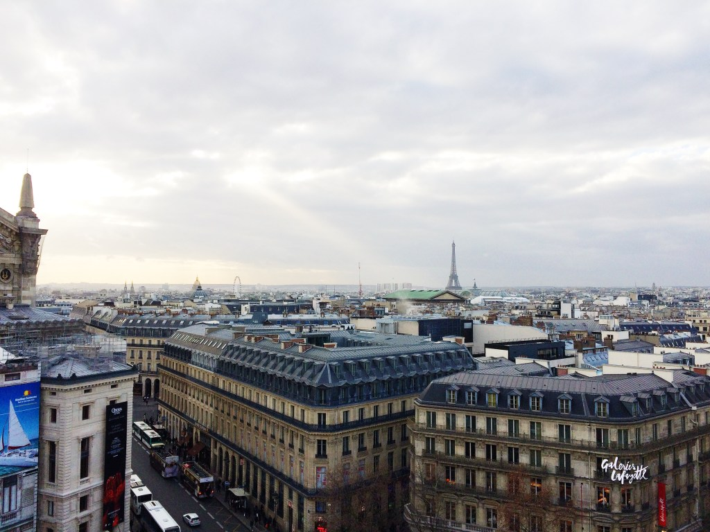 view from the top of galleries lafayette