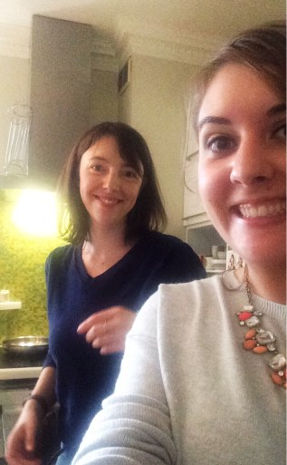 In the kitchen with Clotilde :)