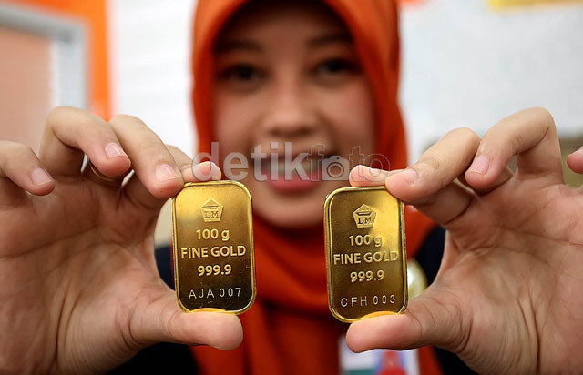 Harga Emas Antam Turun, Jadi Rp 548.000 per Gram