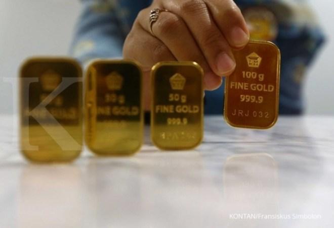 Harga emas Antam kembali turun Rp1000