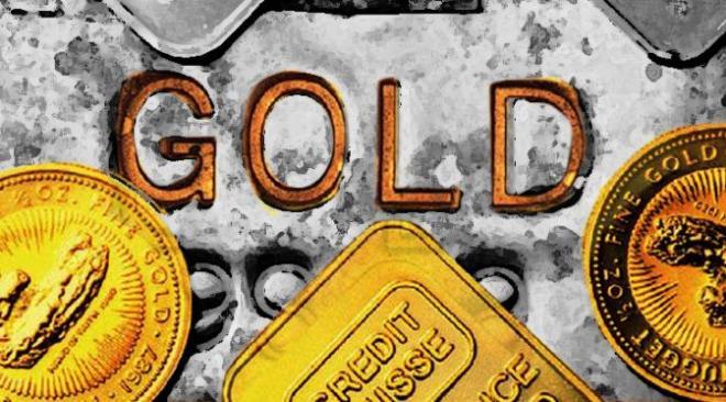 harga emas menguat saat saham jatuh