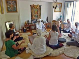 Meditating at the Healing Heart Center