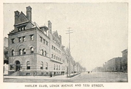 1893 Print Harlem Club Building Lenox Avenue New York ORIGINAL HISTORIC IMAGE