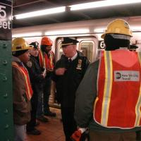 Blind Man Falls On Train Tracks in Harlem