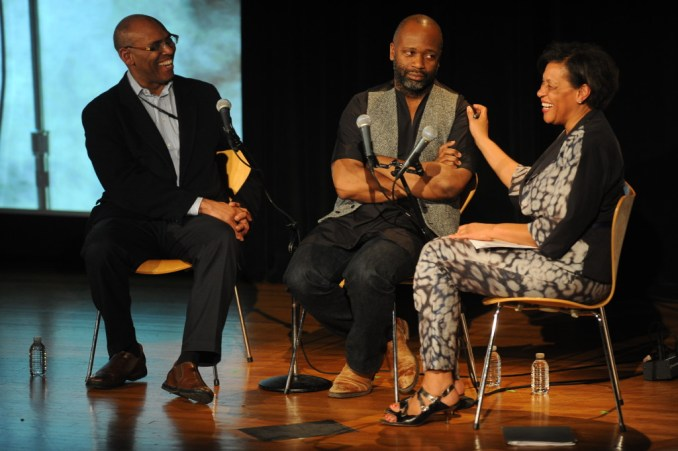 Rick Powell, Theaster Gates, Carrie Mae Meems (left to right)_Credit Enid Alvarez