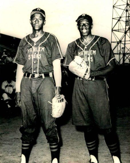 Satchel Paige & Goose Tatum Harlem Stars Negro League 8x10 B&W Photo