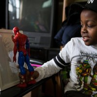 Spider-Man Visits an 8-Year-Old Fan in Harlem