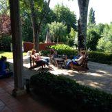 girls on terrace