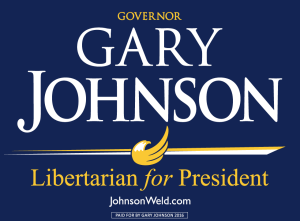 Johnson and Weld 2016 -- libertarian candidates