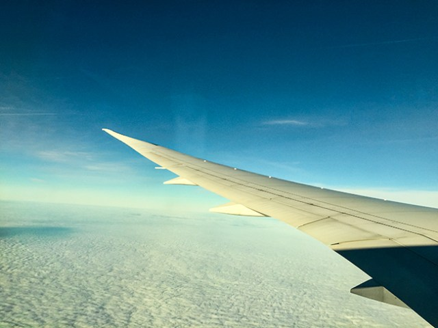Above the clouds - blue sky!