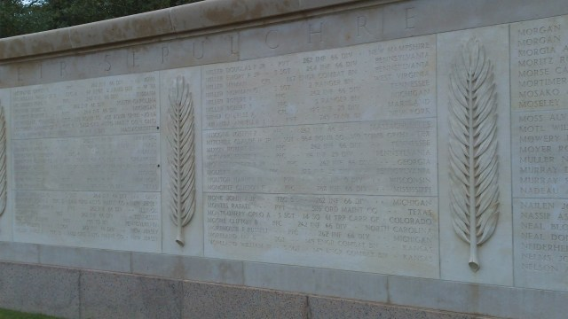 A section of tablet in the Garden of the Missing.