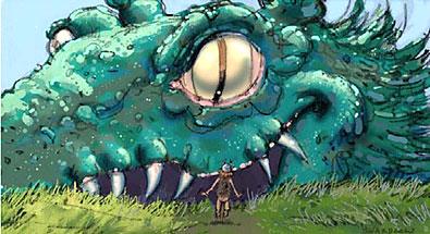 Shardlow dragon illustration