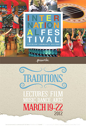 Kapiolani Community College International Festival poster