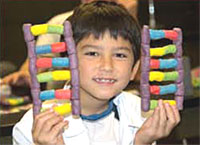 child holding dna strand