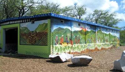 mural on bunker