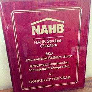 An award plaque