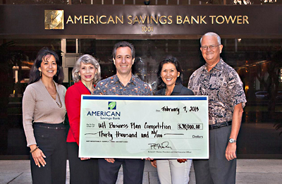American Savings Bank donates $30,000 to UH Entrepreneurship Center