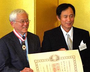 Tanabe receives award