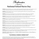 National School Nurse Day 2016 recognized
