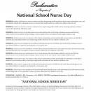 National School Nurse Day 2016 recognized