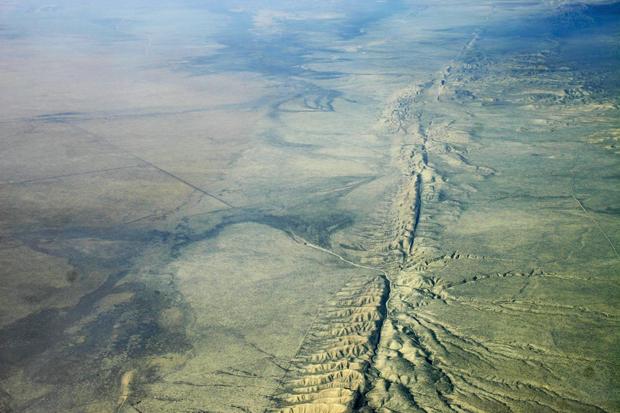 Quake omen: Land around San Andreas Fault rising, sinking
