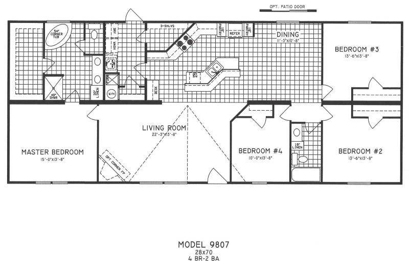 Large Of 4 Bedroom Floor Plans