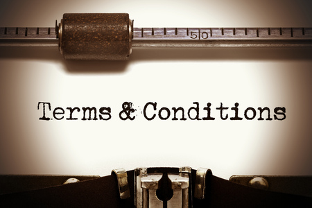 terms and conditions for websites