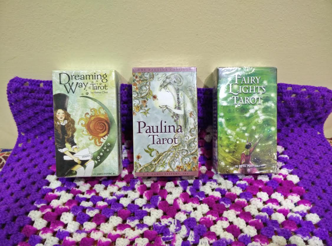 New Tarot Decks : Paulina Tarot, Fairy Lights Tarot, and Dreaming Way Tarot