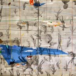 L'horizon du plus faible – Technique mixte marouflé sur toile – 2013, ( 2 x110) x160