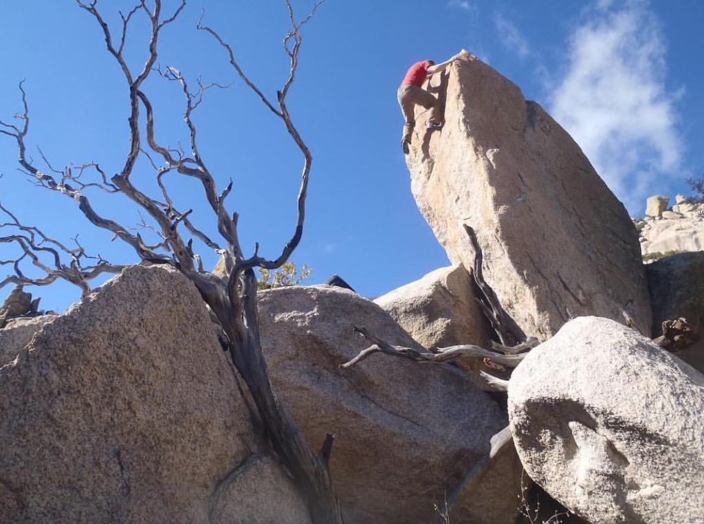 Cory Hanson on a V3 in the Catalinas