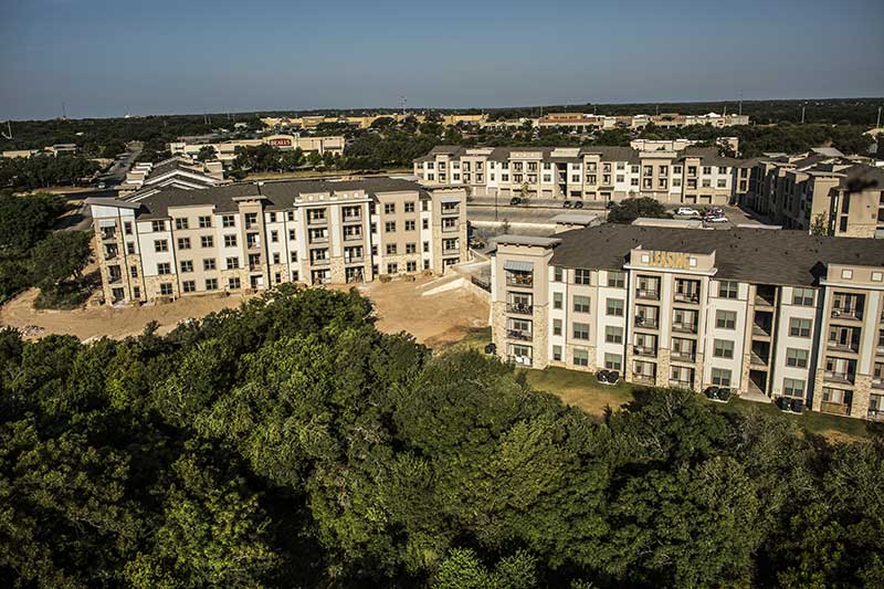 aerial picture of Rivery Apartments survey