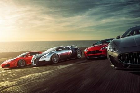 super sports cars 1366x768