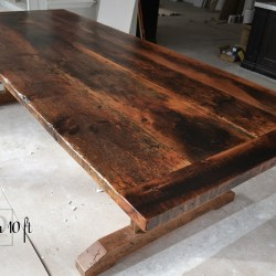 Reclaimed Wood Trestle Table in Richmond Hill Blog