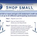 Happy days!  Amex Shop Small is back – get £5 for every £10 purchase in July