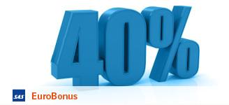 40 per cent discount SAS