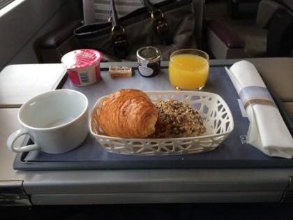 Eurostar standard premier food review