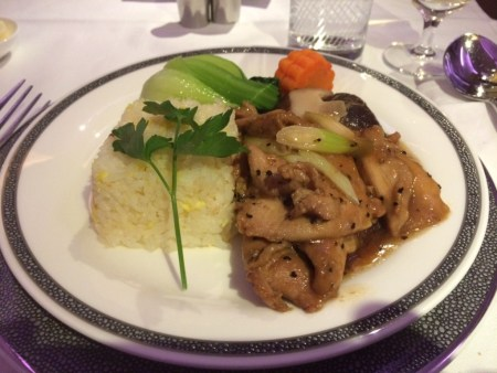 Singapore Airlines A380 First Class suite food 3 review