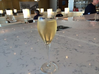 Heathrow Terminal 2 United Club lounge review - champagne