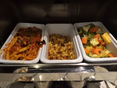 Heathrow Terminal 2 United Club lounge review - food 4