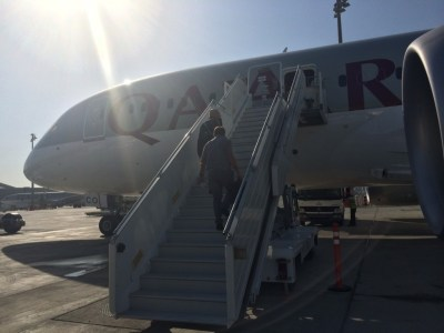 Qatar Airways 787 business class review - outside