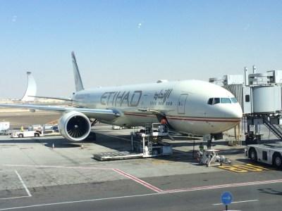 Etihad Boeing 777 business class plane